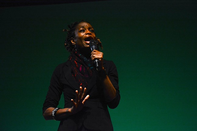 Activist YahNe Ndgo - PHOTO BY STEPHEN CARUSO