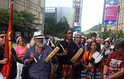 Anti-Dakota Access Pipeline protest here in September - CP FILE PHOTO BY REBECCA ADDISON