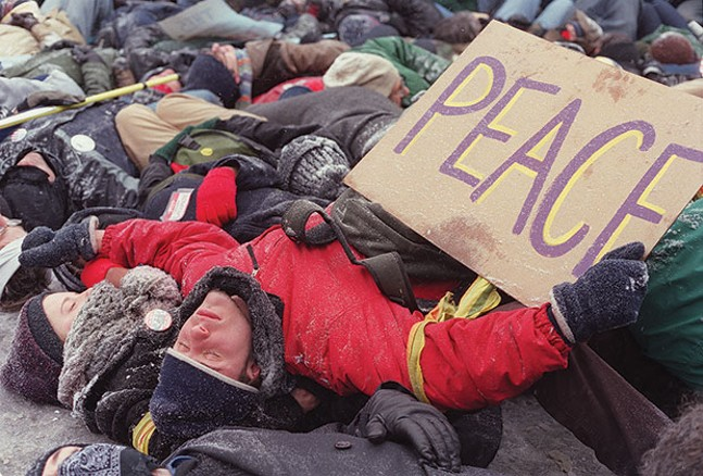 A 2003 anti-war protest - CP FILE PHOTO