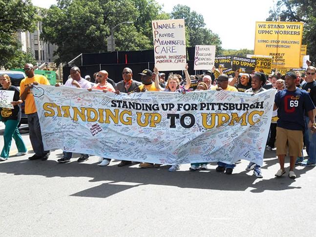 Sept. 8, 2013 UPMC labor protest - CP FILE PHOTO