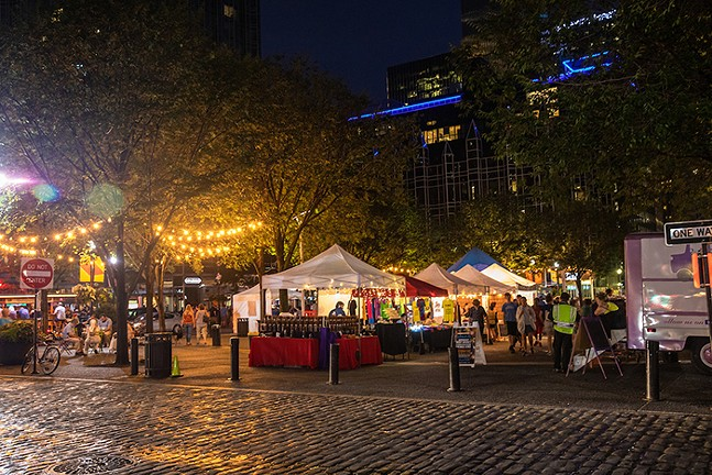 Saturday Night Market in Downtown Pittsburgh in 2019 - PHOTO COURTESY OF PITTSBURGH DOWNTOWN PARTNERSHIP