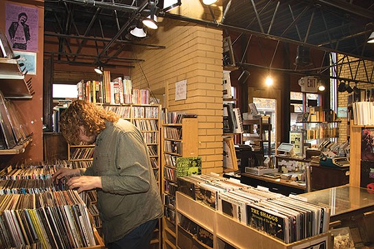 Caliban Book Shop offers an in-house record store. - CP PHOTO BY LUKE THOR TRAVIS