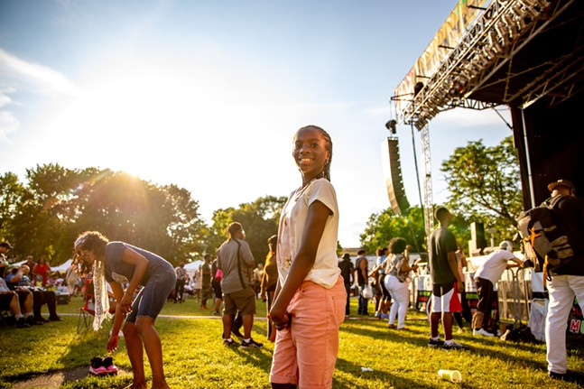 A girl poses for a photo during the Juneteenth and Black Music Festival at Point State Park Sat., June 19. - CP PHOTO: KAYCEE ORWIG