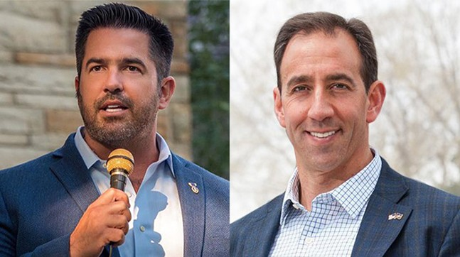 Sean Parnell (left) and Jeff Bartos (right) - PHOTOS: COURTESY OF THE CAMPAIGNS