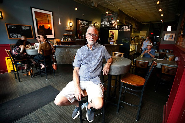 Mike Murphy, owner of Carson Street Deli, poses for a portrait in the South Side on Sun., June 27, 2021. - CP PHOTO: JARED WICKERHAM