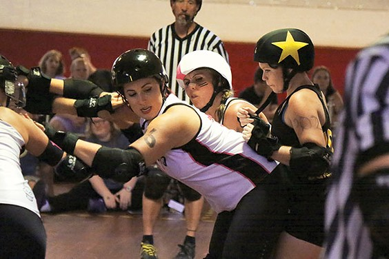 Steel City Roller Derby in action - CP PHOTO BY STEPHEN CARUSO