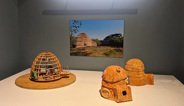 """PORET Kindergarten"" by Anna Heringer, part of Fabricated Landscape at CMOA - CP PHOTO: AMANDA WALTZ"