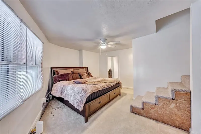 Bedroom in the duplex attached to Take a Break Bar - PHOTO: COURTESY OF COWDEN CREEK REALTY