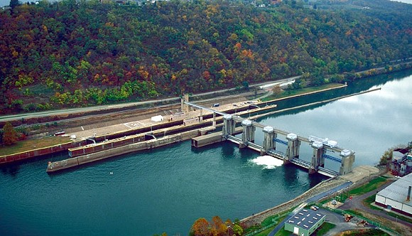 Charleroi Lock and Dam - PHOTO COURTESY OF WIKICOMMONS