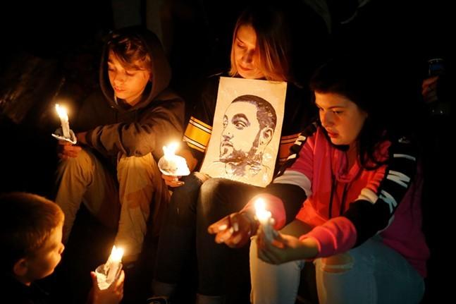 Vigil for Mac Miller in 2018 - CP PHOTO BY JARED WICKERHAM