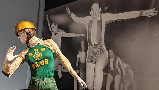 Roller derby uniform at Sporting Fashion: Outdoor Girls 1800 to 1960 - CP PHOTO: AMANDA WALTZ