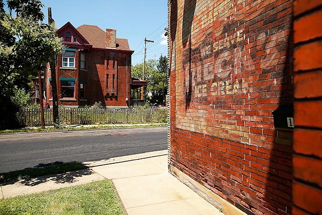 Rieck's Ice Cream ghost sign in Wilkinsburg - CP PHOTO: JARED WICKERHAM