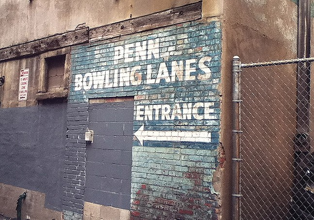 Penn Bowling Lanes ghost sign in Downtown Pittsburgh - CP FILE PHOTO: AL HOFF
