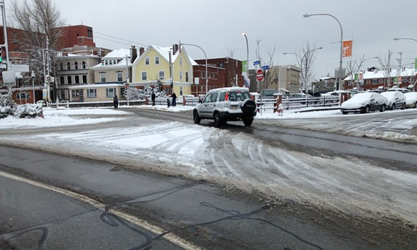 Sneckdown on Friendship Avenue in Bloomfield - CP PHOTO BY RYAN DETO