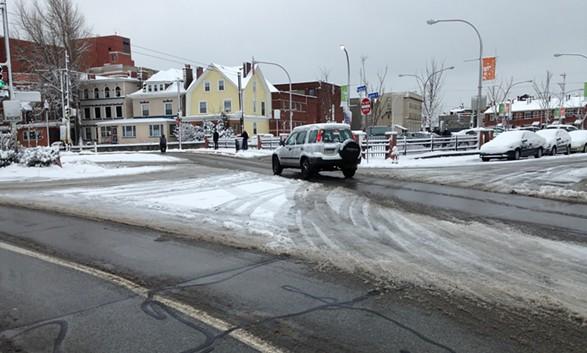 Sneckdown on Friendship Avenue in Bloomfield - CP PHOTO BY RYAN DETO