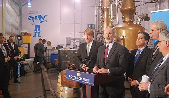 Gov. Tom Wolf at a press event in March 2016 - CP PHOTO BY RYAN DETO