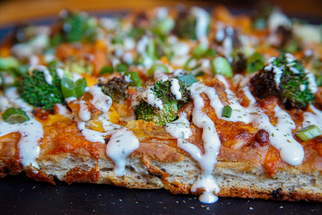 Loaded Potato Pizza at East End Chewing - COURTESY OF EAST END BREWING