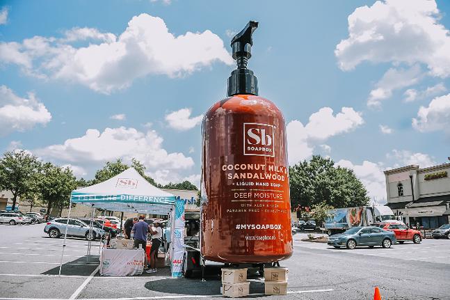 Giant Soapbox Giving Tour bottle. - PHOTO BY TAMMY VEGA