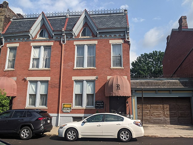 The former O. Robinson Jr. Funeral Home on North Taylor Avenue, currently for sale in the Mexican War Streets in Pittsburgh's North Side - CP PHOTO: LISA CUNNINGHAM