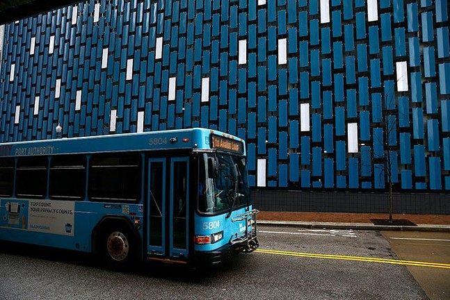 A Port Authority of Allegheny County bus - CP PHOTO: JARED WICKERHAM