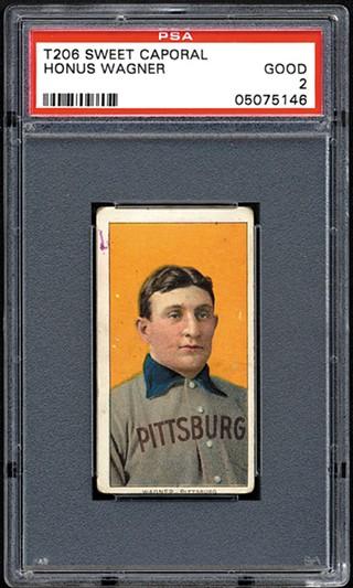 The Honus Wagner card as displayed on Robert Edward Auctions - PHOTO: ROBERT EDWARD AUCTIONS
