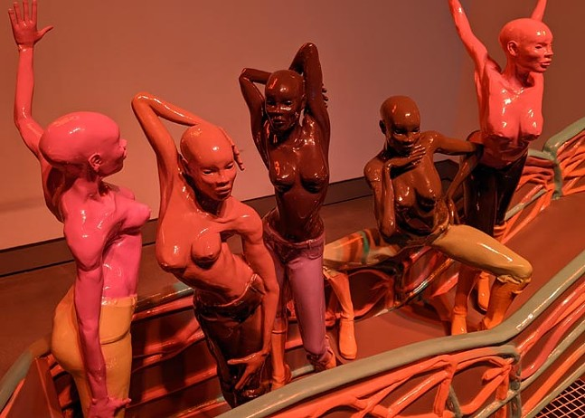 """""""Room for Cleansing,"""" part of Spirits Roaming on the Earth at Miller ICA - CP PHOTO: AMANDA WALTZ"""