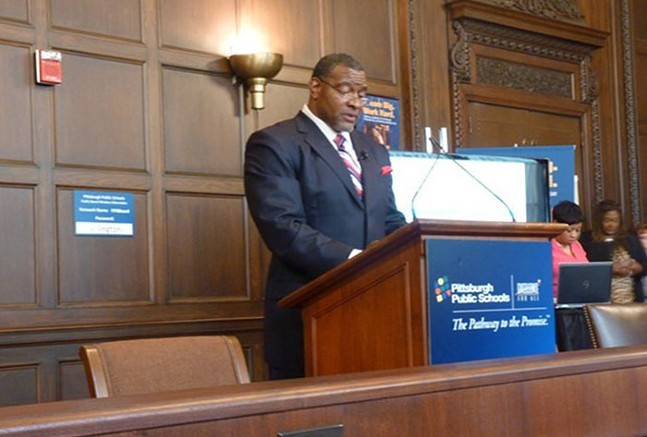 Pittsburgh Public Schools superintendent Anthony Hamlet at a press conference in 2016 - CP FILE PHOTO: REBECCA ADDISON