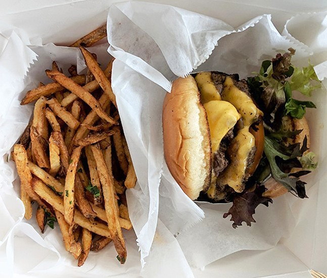 An In-N-Aht Burger with fries from Pittsburgh Sandwich Society - CP FILE PHOTO: MAGGIE WEAVER
