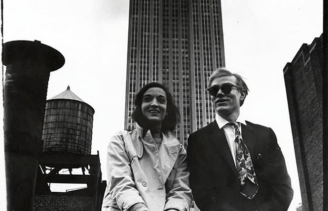 """""""Andy Warhol and Marisol with the Empire State Building"""" by David McCabe, part of Marisol and Warhol Take New York at The Warhol - PHOTO: COURTESY OF THE ANDY WARHOL MUSEUM"""