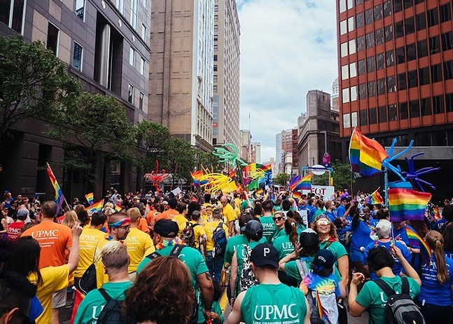 Liberty Avenue during the 2019 Pittsburgh Pride Equality March - PHOTO BY JARED MURPHY/PITTSBURGH CITY PAPER