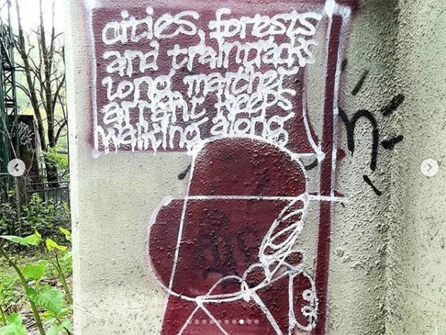 Marcher Arrant graffiti artwork in Pittsburgh - INSTAGRAM PHOTO: MARCHER ARRANT