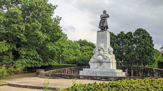 The Christopher Columbus statue in Pittsburgh's Schenley Park - CP PHOTO: AMANDA WALTZ