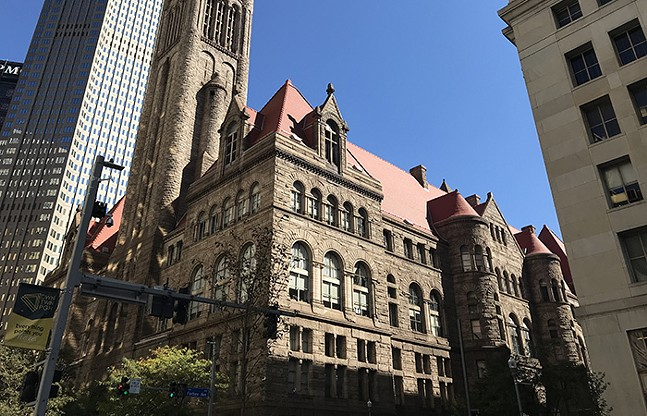 The Allegheny County Courthouse in Downtown Pittsburgh - CP PHOTO: RYAN DETO
