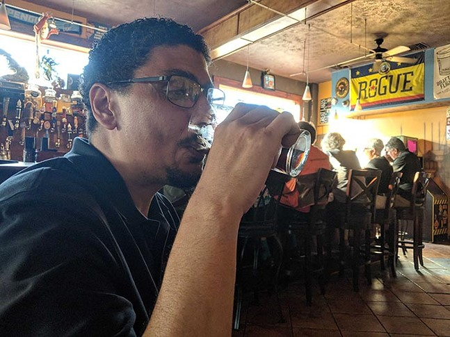Pittsburgher Rod Person drinks at Blue Dust in Homestead. - CP PHOTO: LISA CUNNINGHAM
