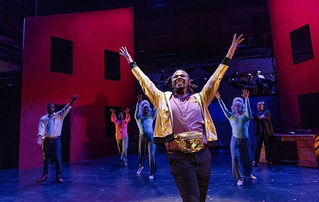 """Malcolm McGraw as Bernard """"Byrd"""" Fuller in New Hazlett Theater's Kalopsia The Musical - PHOTO: RENEE ROSENSTEEL"""