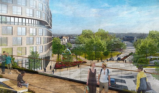 Architectural drawing of Oakland Crossings - IMAGE: COURTESY OF WALNUT CAPITAL