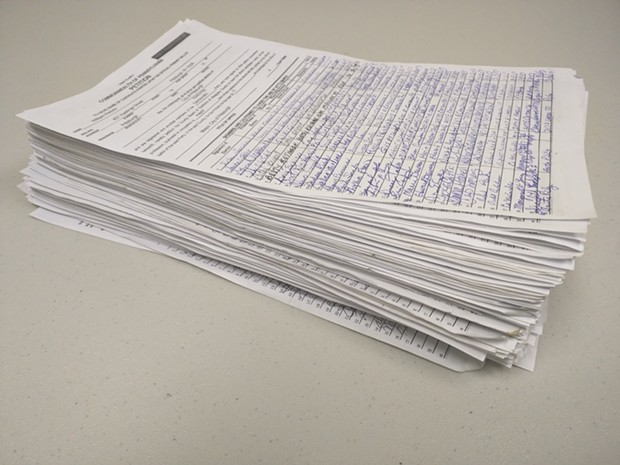 Mayor Peduto's election petitions - PHOTO COURTESY OF PEDUTO CAMPAIGN