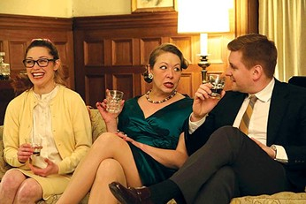 """From left: Hilary Caldwell, Joanna Lowe and Tom Kolos in """"Who's Afraid of Virginia Woolf?"""" - PHOTO COURTESY OF KEN KERR"""