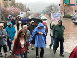 Tuesdays With Toomey marchers today - CP PHOTO BY BILL O'DRISCOLL