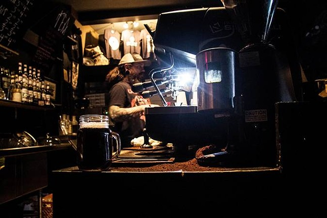Behind the counter at Black Forge - CP PHOTO BY LUKE THOR TRAVIS