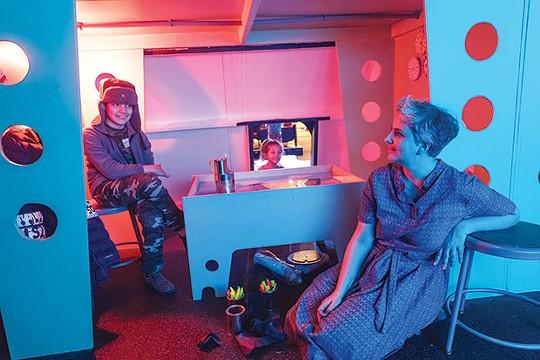 Ice Station Zebra artist Emily Newman (right) - CP PHOTO BY RENEE ROSENSTEEL