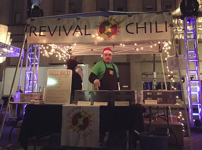 Revival Chili serving up cheer and chili at Light Up Night, 2016. - PHOTO COURTESY OF REVIVAL CHILI