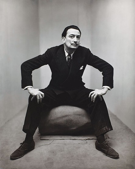 Irving Penn: Beyond Beauty opens June 17 at the Frick Art Museum - Photo of Salvador Dali - IMAGE COURTESY OF SMITHSONIAN AMERICAN ART MUSEUM, GIFT OF THE ARTIST. COPYRIGHT © THE IRVING PENN FOUNDATION