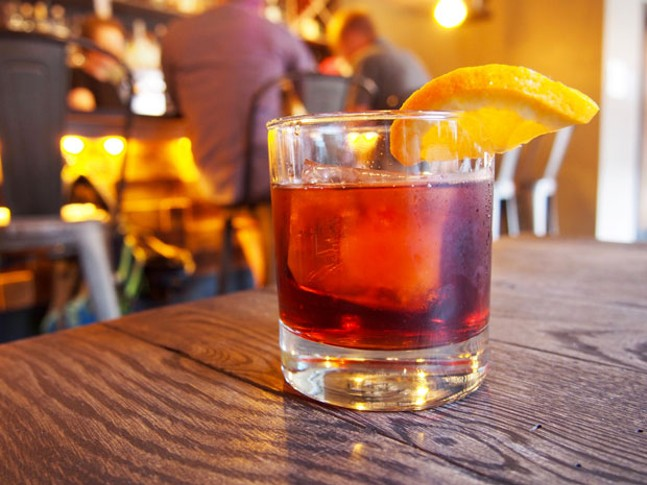A negroni at Grapperia - CP PHOTO BY DREW CRANISKY