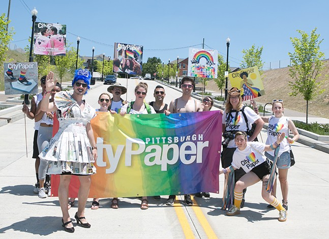 Pittsburgh City Paper in the 2017 EQT Equality March in Downtown Pittsburgh - CP PHOTO BY JOHN COLOMBO