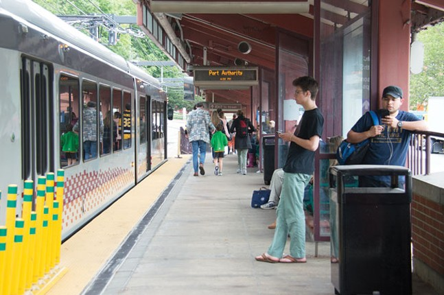 Will undocumented immigrants riding Pittsburgh light-rail face deportation for failing to pay their fare? - CP PHOTO BY JORDAN MILLER