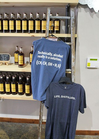 T-shirts on display at the new Pennsylvania Libations - CP PHOTO BY KRISTA JOHNSON