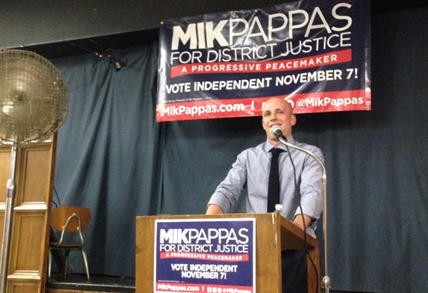 Mik Pappas at his July 13 campaign event in East Liberty - CP PHOTO BY RYAN DETO