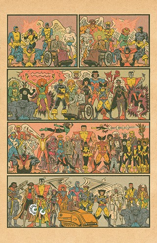 The pin-up-style rendition of X-Men characters that Ed Piskor tweeted in 2015 - ART BY ED PISKOR