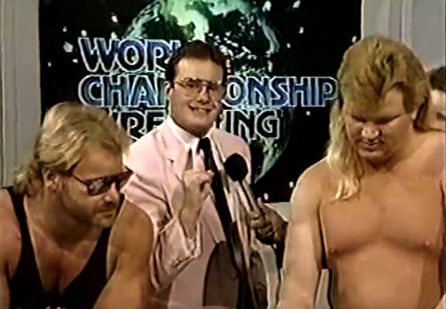 Jim Cornette (center) and the Midnight Express
